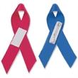 "5/8"" x 3 1/2"" Awareness Ribbon (folded) Unimprinted w/ Tape - Blank plain, folded, awareness ribbon."