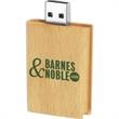 4GB Eco Book Wood Drive (TM) EB - Wooden book USB 2.0 drive.