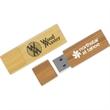 Eco Long Wood Drive (TM) EL - Eco friendly, compact, wood USB 2.0 drive.