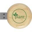 Eco Round Wood Drive™ ER - Circle-shape wood USB 2.0 drive.
