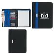 "Contemporary 8 1/2"" x 11"" Zippered Portfolio - Zippered portfolio with 30 page writing pad."
