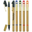 Dual Function Eco-Friendly Pen/Highlighter - Dual function eco-friendly pen with chisel tip yellow highlighter.