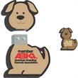 16GB Dog Drive (TM) - Flash memory; dog-shaped.
