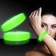 """Green 9"""" Deluxe Triple Wide Light Up Glow Bracelet"""