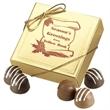 Four Chocolate Truffles in Gold Box