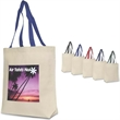 Brand Gear™ Tahiti Tote Bag™ - Large canvas cotton tote bag with your choice of handle colors.