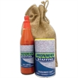 Cajun Seasoning 2 Piece Gift Set - Gift pack with (1) 8 oz Seasoned Salt, (1) 6 oz Cajun or Jalapeno Hot Sauce packaged in a burlap bag.