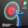Imprinted LED Spinning Lights Space Blaster Toy Gun