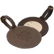 """Woodbury™ Round Golf Tag - 4"""" x 1/8"""" round leather golf tag"""