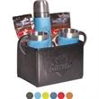 Tuscany™ Thermos & Cups Ghirardelli® Cocoa Set - Gift set of Tuscany™ thermos, two coffee cups, two packets of Ghirardelli hot chocolate in a Venezia™ folding bin.
