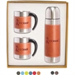 Tuscany™ Thermal Bottle & Coffee Cups Gift Set - Coffee cup and thermos set.
