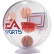 "Desktop Basketball Globe Game - 4""D basketball globe game with desk stand."