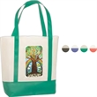Harborside Tote - 80GSM - Non woven polypropylene tote bag with velcro closure and colored handle.