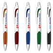 Archer Grip Pen™ - White Barrel - Retractable click action ballpoint pen with a white barrel and brilliant iridescent grip