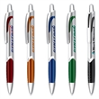 Archer Grip Pen™ - Silver Barrel - Retractable click action ballpoint pen with a silver barrel and brilliant iridescent grip