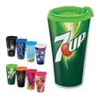 Brand Gear (TM) VibraColor(R) Spectrum (TM) Tumbler - 16 oz. double wall tumbler with full color insert and matching lid