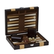 "9"" Brown Backgammon Set - 9"" brown briefcase style case with backgammon set"
