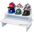 Table Top Hat Display - Custom - 1-Sided print comes with two shelves and 2 hat stand area's. Can easily display at least 15 hats. Easy to set up.