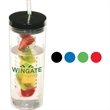 Thirstinator Sipper with Infuser - 20 oz. single-wall SAN acrylic tumbler with infuser and polypropylene straw.