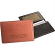 Leeman New York Jersey ID Card Case - Identification card case with fold over mesh window and gusseted pocket.