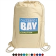 """Cotton String-A-Sling Backpack - 13.75"""" x 17.75"""" cotton drawstring backpack"""