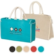 Bermuda Tote - Tote bag with padded cotton handles and hook and loop fastener closure.