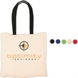 Econo Cotton Tote - Natural cotton tote with contrasting handles, an Eco-Responsible™ product.