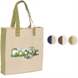 Eco-World Tote - 10 oz. Cotton - Natural 10 oz. cotton canvas with grommeted handles and choice of handle color.