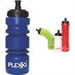 Accordion Water Bottle - 16-28 oz. polyethylene water bottle with screw-on lid and push/pull spout.