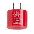 OVAL UL APPROVED WALL CHARGER - UL approved wall charger with an oval design that connects any USB cable to charge your cell phone, tablet, etc.
