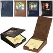 Soho Memo Pad Desk Frame - Memo pad holder with paper clips, note pad and picture frame. Closeout all colors