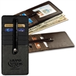 Leeman New York St. Regis Ladies' Travel Wallet - Textured leather travel wallet with nylon twill and satin interior. Closeout all colors.