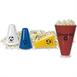 Popcorn Holder/Megaphone - Popcorn holder/megaphone. Holds over 2 cups of popcorn. Special bottom allows unpopped kernels to drop through.