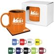 Mug & Coaster Gift Set - 11 oz. glossy ceramic mug and a neoprene coaster together in a gift set.