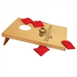 Travel Size Bag Toss Game - Customizable Bag Toss Game with an engravable wood deck.