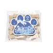 Mini Dog Bones in Bag with Paw Magnet - Miniature dog bones treat bag with an attached four color process, paw print shaped magnet