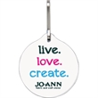 Bag & Luggage Tag (Zipper Pull) - Large Round - Full Color - Bag & luggage tag (zipper pull) - large round.
