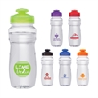 Forte 24 oz. PET Water Bottle - 24 oz. PET bottle; features contoured body with textured grip and flip-open drinking spout.