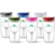 Vino2Go® Wine Sippy Cup (Patented) - 10 oz. double wall tumbler with unique floating stem. Maintains ideal temperature and doesn't sweat. BPA free. Hand wash only.