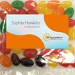 Business Card Magnet w/Large Bag of Jelly Beans - Business Card Magnet w/Large Bag of Jelly Beans