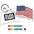 U.S. Flag Flexible Key Tag