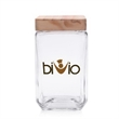 54 oz. Glass Candy Jars w/Wooden Lids