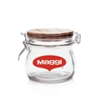 16 oz. Glass Candy Jars w/Wire Wooden Lids