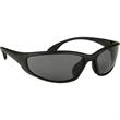 Sprint Polarized Sunglasses - Matte black wrap style sunglasses with polarized lens.