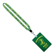 "3/4"" Sublimated Lanyard w/ 4 1/4"" W x 6"" H Plastic ID Badge - 3/4"" Sublimated Lanyard with 4"" Diameter Plastic Identification Badge."