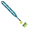 """3/4"""" Polyester Lanyard with 5"""" W x 3"""" H Plastic ID Badge - 3/4"""" Polyester Lanyard with 5"""" W x 3"""" H Plastic Identification Badge."""