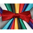 "Neckwear Solid satin bowties - 100% Polyester Satin Bow Tie, Bijoux-73, 4.75"" x 2""  banded with formal closure."