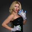 Light Up Silver Gloves with Sequins
