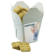 Fortune Cookie Box with Short Bread Cookies - Fortune cookie box with 10 short bread cookies.