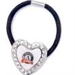 Crystal Heart Hair Tie/Bracelet - Crystal heart hair tie/ braeclet.